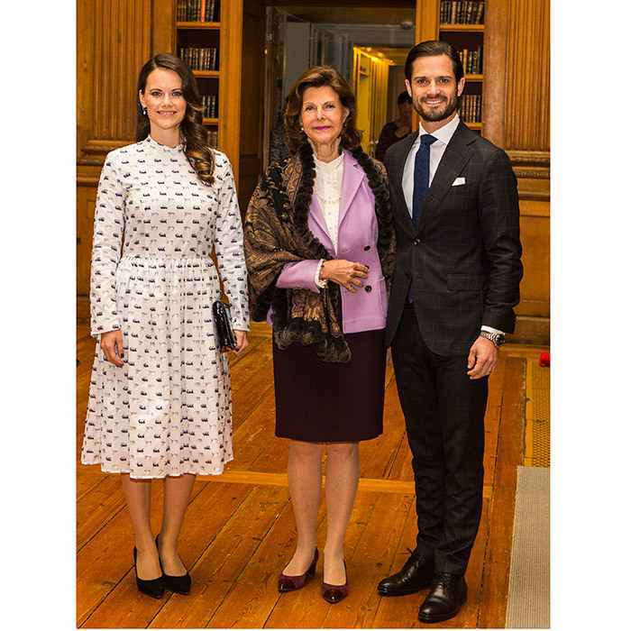 Queen Silvia of Sweden was joined by her son and daughter-in-law Prince Carl Philip and Princess Sofia at the 'Dyslexialand' symposium at the Royal Palace in Stockholm on November 21. It's a cause close to Carl Philip's heart, as he also suffers from the reading disorder.