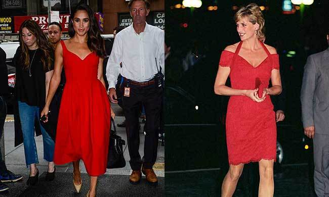 meghan markle and princess diana s shared love of fashion hello canada meghan markle and princess diana s