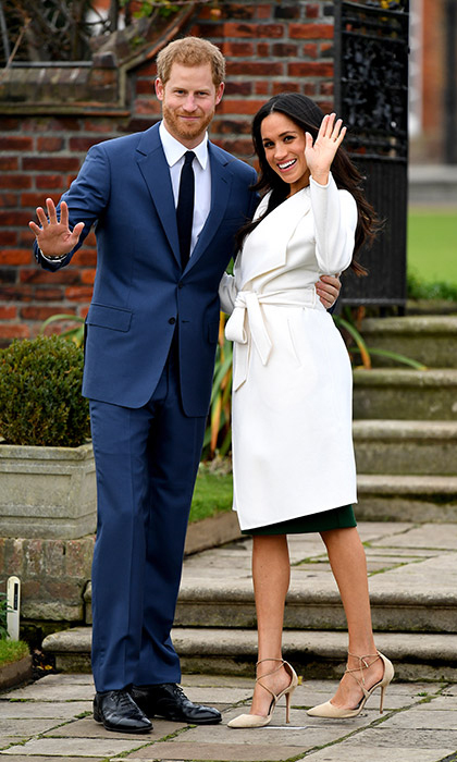 "<p><a href=""https://ca.hellomagazine.com/tags/0/prince-harry"">Prince Harry</a> and <a href=""https://ca.hellomagazine.com/tags/0/meghan-markle"">Meghan Markle</a> surprised the world on Monday morning when they announced the news of their engagement. The couple couldn't hide their delight as they posed for official photos on at the beautiful Sunken Garden at Kensington Palace, where Meghan proudly showed off her beautiful engagement ring for the very first time.