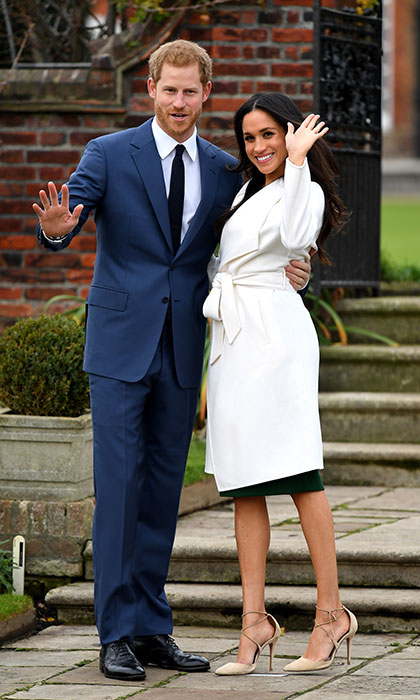 "<p>The American actress flaunted her stunning engagement ring at the photocall. Harry, 33, also revealed that he wanted to marry Meghan ""from the very first time we met"". The lovebirds have been dating since the summer of 2016. Their 16-month whirlwind romance blossomed when they met through mutual friends in London, and the pair have been almost inseparable in recent months.
