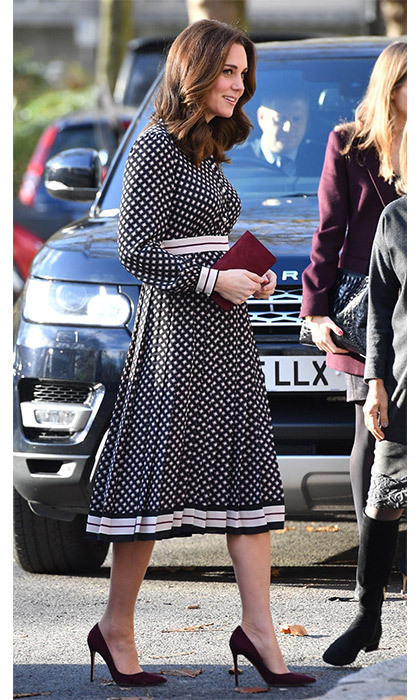 <p>Kate arrives at Foundling Museum in London. </p>