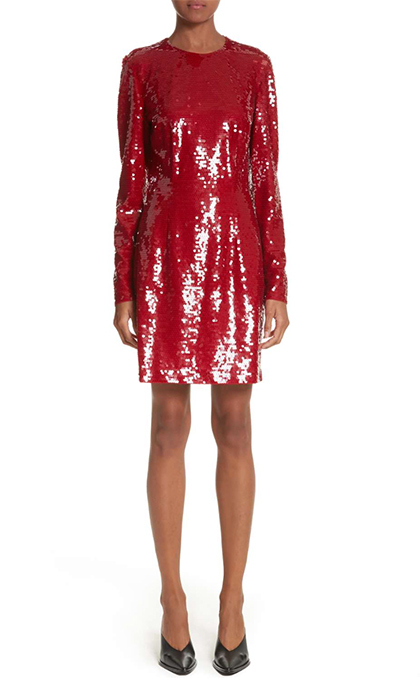 "<b>Stella McCartney Katie Sequin Dress</b>, $3,049.64, <a href=""https://shop.nordstrom.com/s/stella-mccartney-katie-sequin-dress/4646328"">shop.nordstrom.com</a>"