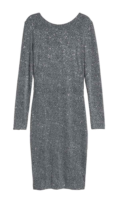 "<b>Draped Silver Dress</b>, $69.99, <a href=""http://www2.hm.com/en_ca/productpage.0581056001.html"">hm.com</a>"