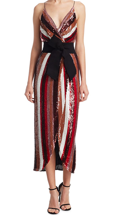 "<b>Johanna Ortiz Striped Sequin Dress</b>, $4,315.00, <a href=""https://www.saksfifthavenue.com/main/ProductDetail.jsp?PRODUCT%3C%3Eprd_id=845524447174485&site_refer=CSE_INTL_GGLPRADS001_CA&gclid=CjwKCAiA9f7QBRBpEiwApLGUip55vzvdcv7Yi3_HaV4V9JX0tHDac2G9T0cVnWrXNztDytKOu7-EiRoCBGEQAvD_BwE&gclsrc=aw.ds"">saksfifthavenue.com</a>"
