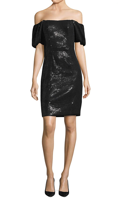 "<b>Nanette Lepore Daredevil Sequin Off-The-Shulder Dress</b>, $645, <a href=""https://www.saksfifthavenue.com/main/ProductDetail.jsp?PRODUCT%3C%3Eprd_id=845524447171499&site_refer=CSE_INTL_GGLPRADS001_CA&gclid=CjwKCAiA9f7QBRBpEiwApLGUipZcX5dtL9CF8-ch8PTFTM4-YAwoMkTTiKWn_1OT5dwQKg-yJUzx9xoCEk8QAvD_BwE&gclsrc=aw.ds"">saksfifthavenue.com</a>"