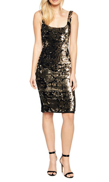 "<b>Bardot Sequined Sleeveless Dress</b>, $134, <a href=""http://www.thebay.com/webapp/wcs/stores/servlet/en/thebay/sequined-sleeveless-dress-0600089610343--24?site_refer=CSE_GGLPLA&gclid=CjwKCAiA9f7QBRBpEiwApLGUit326ZU5R-NJEI-oO4trEPNKvnQGXdlcEcvw5kLCQu9uqTLG05AxBhoCDr4QAvD_BwE&gclsrc=aw.ds"">thebay.com</a>"