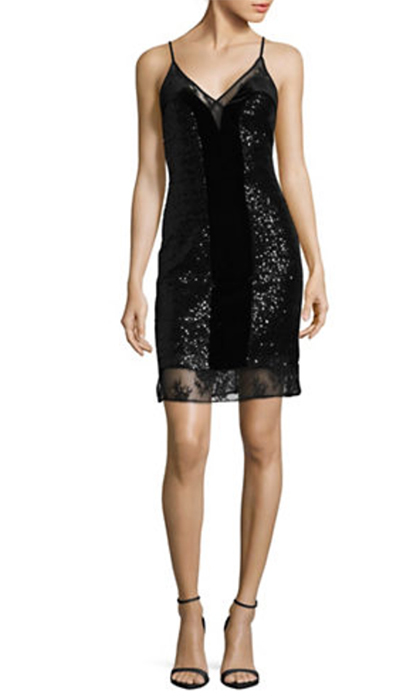 "<b>French Connection Mesh Lace Jersey Velvet Slip Dress</b>, $178, <a href=""http://www.thebay.com/webapp/wcs/stores/servlet/en/thebay/mesh-lace-jersey-velvet-slip-dress-0600089643057--24?site_refer=CSE_GGLPLA&gclid=CjwKCAiA9f7QBRBpEiwApLGUilNllzo4V7ttHFK4VlFnqZI-t7TEY2I0I4ntF9543JaDuzxTteiITxoC3tgQAvD_BwE&gclsrc=aw.ds"">thebay.com</a>"