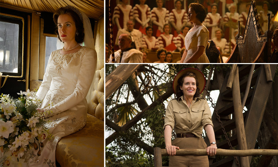 The debut season of <i>The Crown</i> saw Princess Elizabeth (played by Claire Foy) quickly thrust into a new role, not only as Queen but as wife to Prince Philip. <p>Following her journey around the world with Philip, through a fog health crisis, the death of her father, political scandal and life-changing decisions, we see the Queen's fashion evolve from cool and casual to floral dresses to regal gowns. 