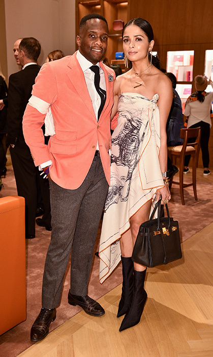 <p>Hermes Party</p><p>Kona Shio and Amy Patel</p><p>Photo: &copy; George Pimentel Photography</p>