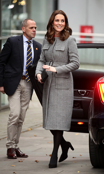 The Duchess of Cambridge arrives for the Children's Global Media Summit at Manchester Central Convention Complex.
