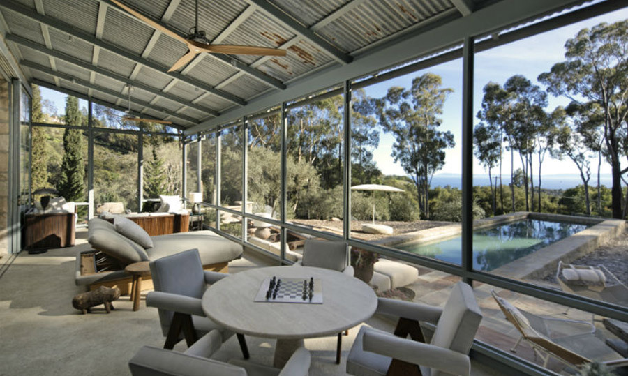<p>We're loving picturing Ellen sipping a coffee overlooking her garden - making her cosy home double up as a luxurious poolside cafe, with incredible views across to the ocean.</p>