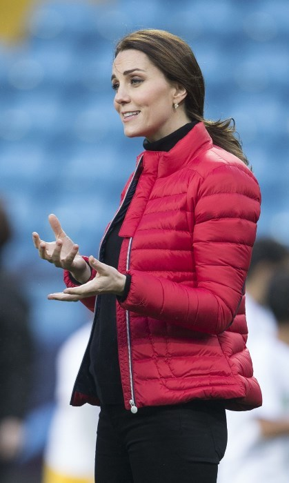 <p>Fetching a rather low key hairstyle here, Duchess Kate wore her hair in a ponytail at a visit to Aston Villa Football Club to see the work of the Coach Core programme last month. The laid back hairstyle really suits her and was a perfect look for the sporty event.</p>
