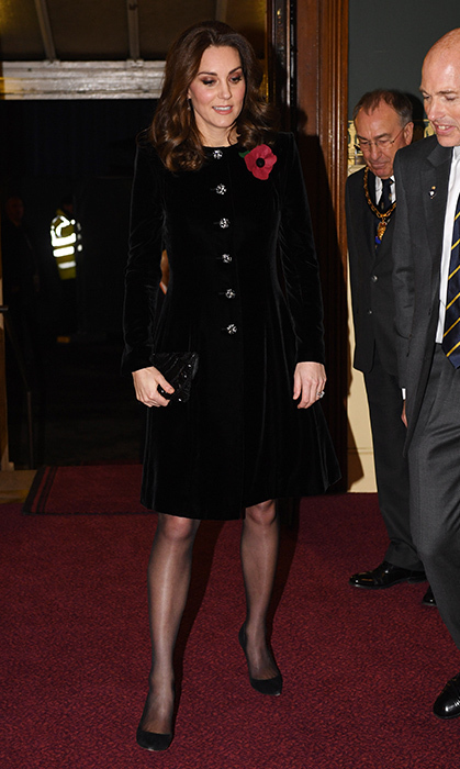 <p><strong>Searching for style inspiration this holiday party season? Take a cue from your favourite members of royalty and wear velvet! Check out our photo gallery of royals wearing the winter trend to spark some ideas.</strong><br /><br />While awaiting baby #3, Duchess Kate stepped out for the annual Royal Festival of Remembrance at the Royal Albert Hall in London on 11 November, 2017. The Duchess wore the perfect cold-weather evening look: a black velvet Catherine Walker coat with glittering Swarovski buttons.&nbsp;</p>