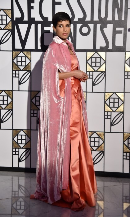 <p>Saudi Arabian Princess Deena Aljuhani Abdulaziz was also in attendance at the 2017 Rose Ball. The former <em>Vogue Arabia </em>Editor-In-Chief turned heads in a pink velvet cape and silk gown.</p>