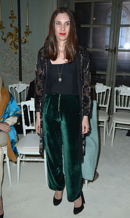 <p>If formal gowns aren't your thing, take a look at Monaco royal Tatiana Casiraghi's cool look. Princess Caroline's daughter-in-law, who is co-founder of fashion brand Muzungu Sisters, is known for her eclectic wardrobe. Here she rocks green velvet trousers and a kimono-style jacket at the Giambattista Valli Haute Couture Spring Summer 2017 presentation in Paris.</p>