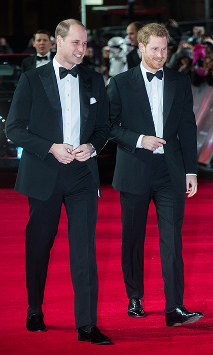 Princes William and Harry broke out their tuxedos to attend the <i>Star Wars: The Last Jedi</i> premiere in London Dec. 12! The royal duo even got to meet some of the cast members.