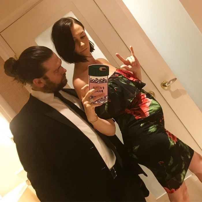 <h2>Jack Osbourne and wife Lisa Stelly</h2>