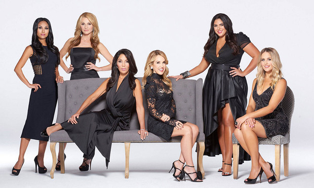 Ann Kaplan Mulholland with the cast of The Real Housewives of Toronto