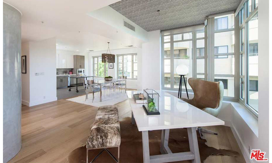"<p>At the back of the living room and dining area there is a separate desk and seating area next to the window. This could serve as the perfect space for Kendall's business meetings with her ""momager"" Kris, or to work on her Kendall and Kylie fashion collection with her younger sister Kylie Jenner.</p>