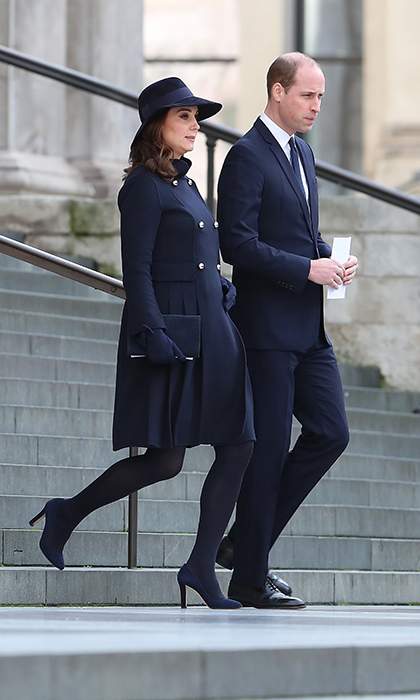 Prince William and Kate attend the Grenfell Memorial service at St Paul's.