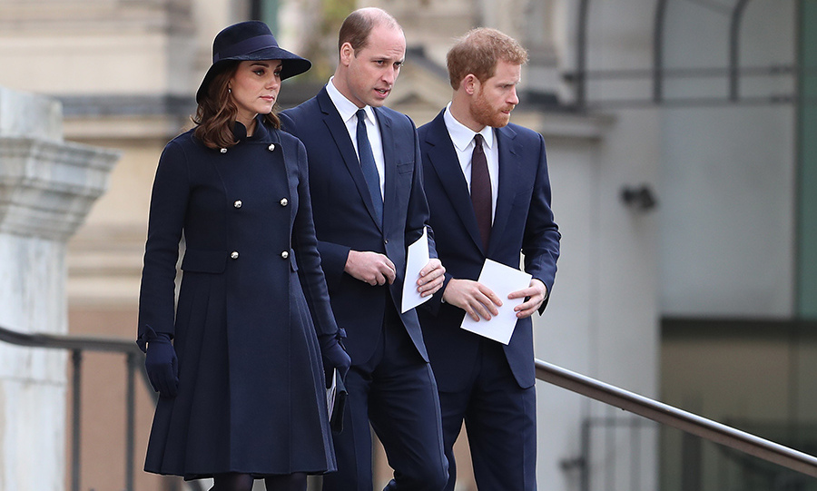 Kate, Prince William and Prince Harry attend the Grenfell Memorial service at St Paul's.