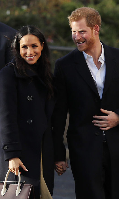 Meghan Markle and Prince Harry in Nottingham.
