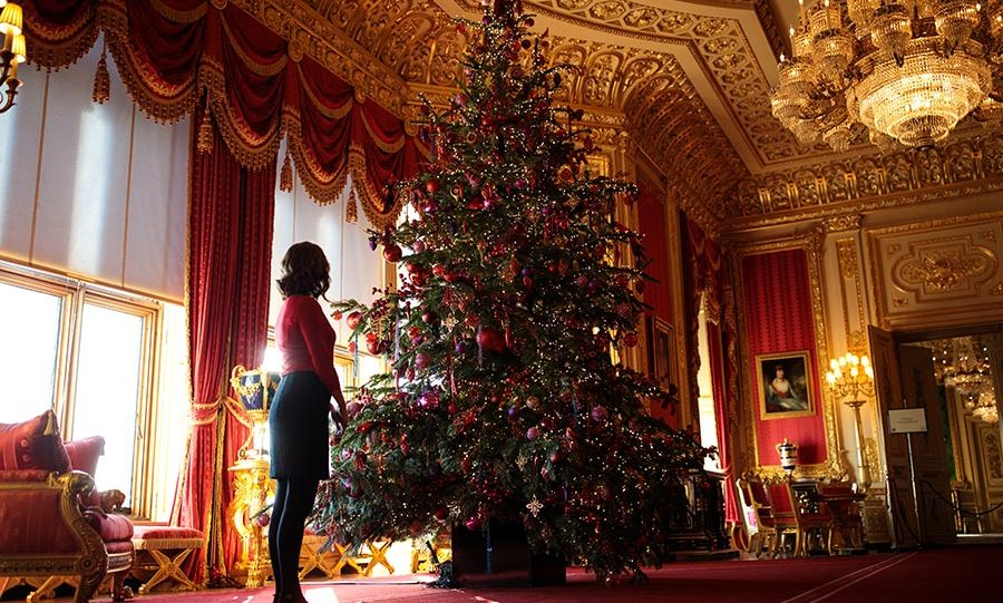 Windsor Castle at Christmas time.