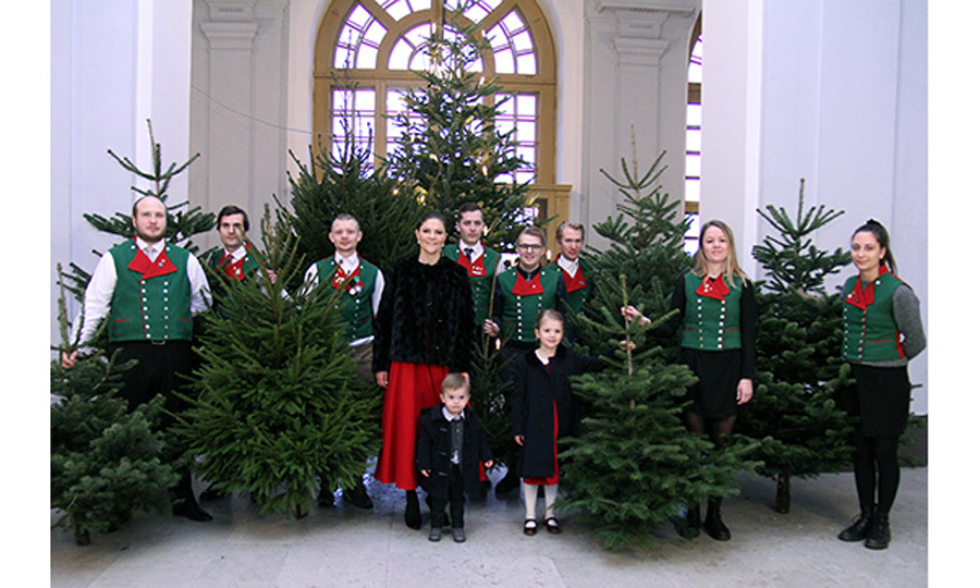 <p>The engagement marked Oscar's first time participating in the holiday tradition. Estelle, who helped her mother accept multiple trees last year, first participated in the Swedish tradition in 2013 when she was also one-years-old.</p> 