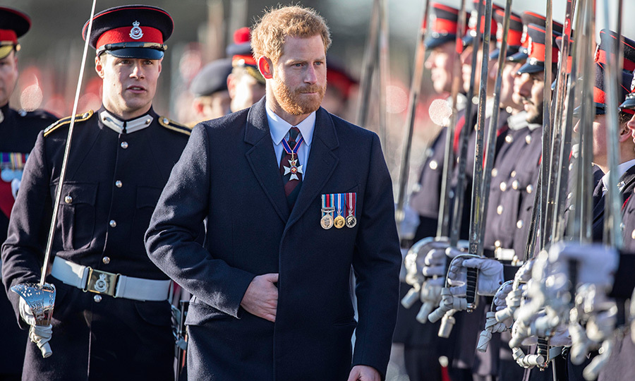 Prince Harry attended The Sovereign's Parade at the Royal Military Academy Sandhurst on Dec. 15.