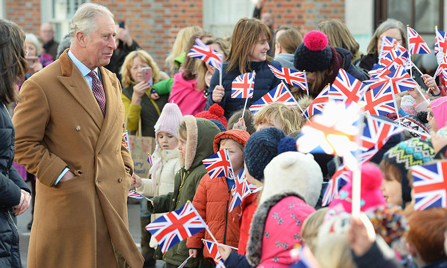Prince Charles toured Ramsbury Estate on Dec. 15 in Marlborough, England. He met with excited local school children and went to a reception for the estate's tenants during his visit.