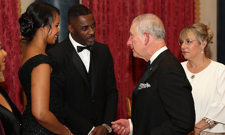 Idris Elba and his girlfriend Sabrina Dhowre had a chat with Prince Charles at the 'One Million Young Lives' dinner. The dinner, hosted by the Prince, was held at Buckingham Palace on Dec. 14.