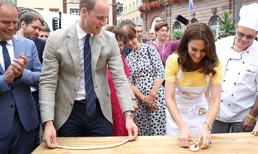 The Great Royal Bake Off! Prince William and Kate tried to master the art of making pretzels during their official visit to Germany on July 20. 