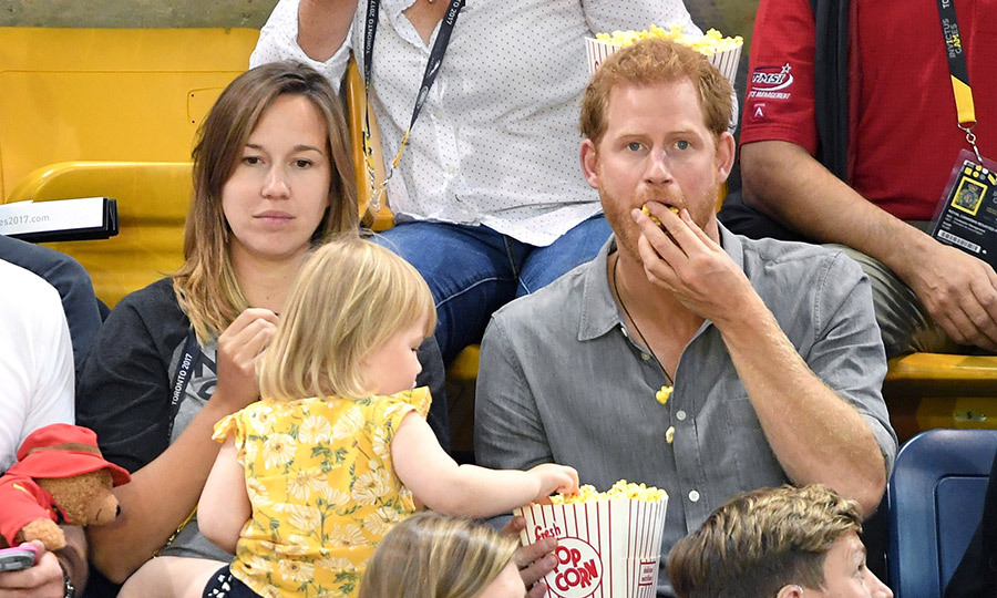 Arguably one of the cutest moments of 2017 was when a little girl was spotted stealing popcorn from an unaware Prince Harry during the Invictus Games! 