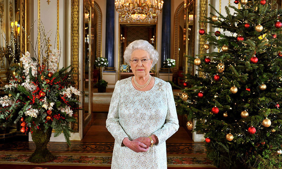 <p>Members of the public were given a glimpse at another part of Buckingham Palace when the Queen filmed in the White Drawing Room in 2012. This room is opulent and ornately finished much like the rest of the palace, with a huge chandelier hanging at the centre of the room and a huge real Christmas tree in the corner, decked with traditional red and gold baubles.</p>