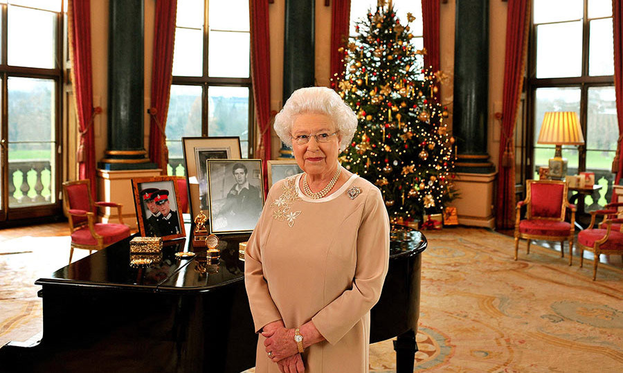 <p>Looking back to 2008, it was the music room that was selected for the Christmas speech. This incredibly spacious room offers views out over Buckingham Palace's extensive gardens, with a grand piano taking pride of place in the centre. In keeping with the d&eacute;cor of the room, the Christmas tree is decorated with gold and red baubles, with wrapped gifts placed carefully underneath.</p>