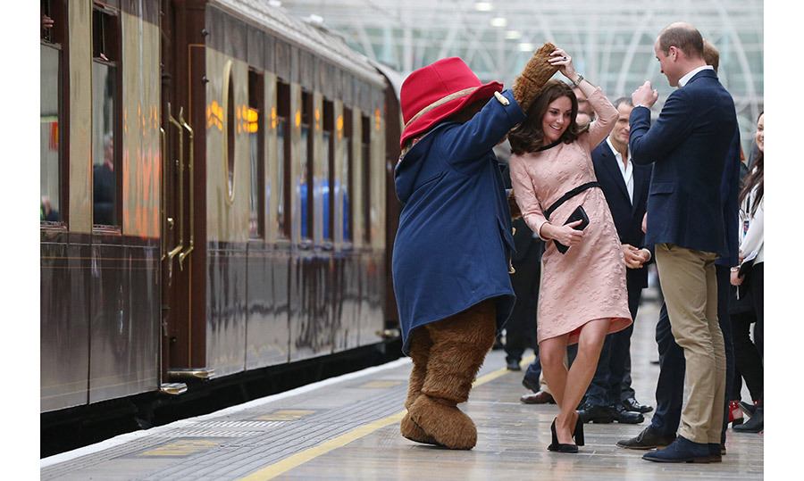 <h4>DANCE PARTNER</h4><p>Making her return to public life, Kate was in much better spirits following extreme morning sickness. She spent time with the cast of Paddington 2, including the lovable  bear himself!</p><p>Photo: &copy; Getty Images</p>
