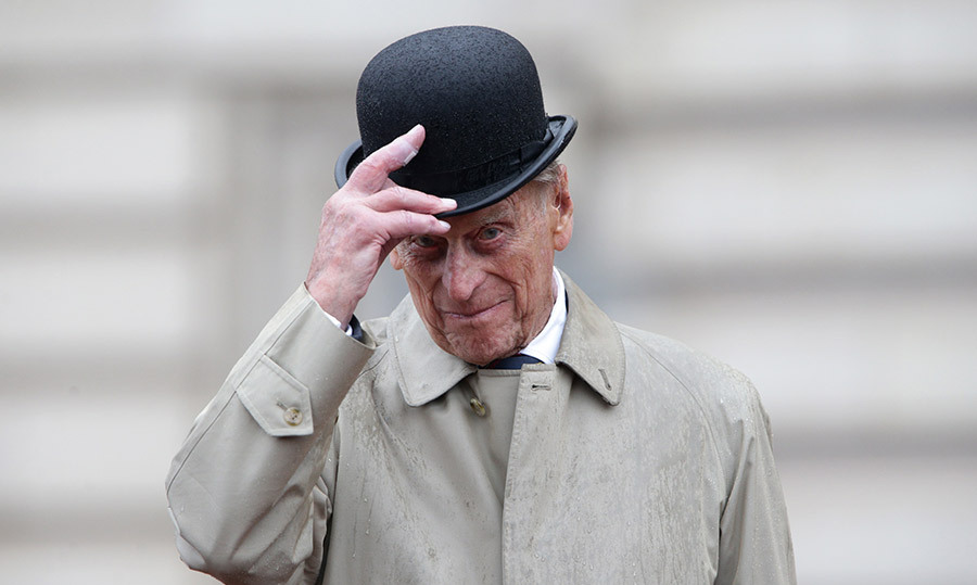<h4>PHILIP HANGS UP HIS HAT</h4><p>At 96, the Duke of Edinburgh finally decided it was time to put his feet up and enjoy his well-earned retirement. The Queen's husband made his final official appearance on Aug. 2, tipping his bowler as he greeted Royal Marines in the palace courtyard during a downpour. </p><p>Photo: &copy; Getty Images</p>