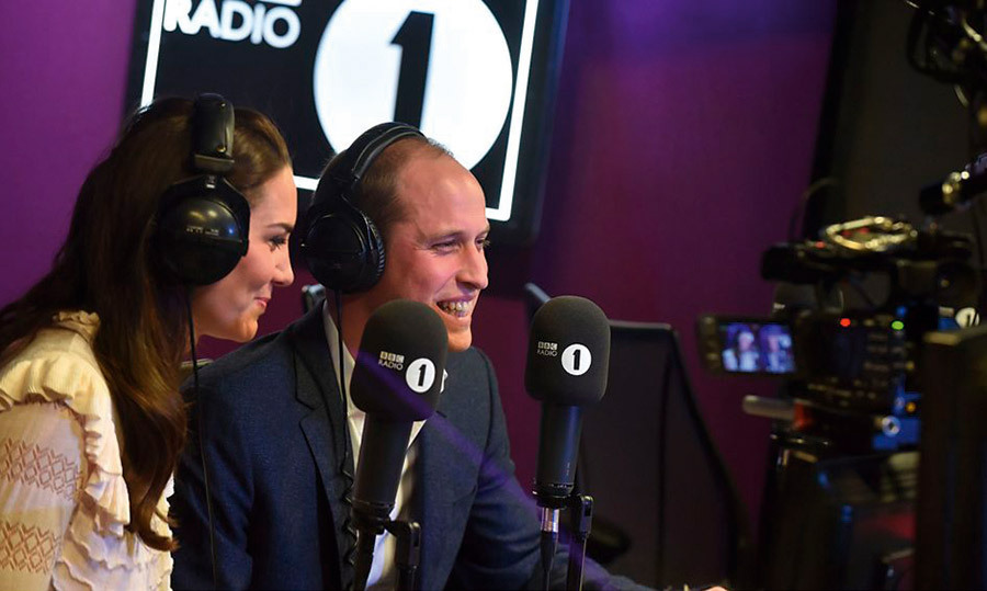 <h4>CAMBRIDGES ON AIR</h4><p>In a surprise visit to BBC Radio 1 to promote their Heads Together mental-health initiative, Prince William admitted that he has texted in song requests, while Kate said she loves curry takeout! They also revealed they're big fans of Homeland and Game of Thrones.</p>