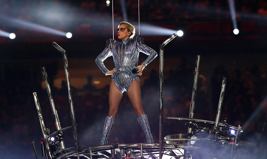 "<h4>SUPER BOWL SENSATION</h4><p>Glittering through the air thanks to some suspension cables, Lady Gaga generated plenty of ""Applause"" with her show-stopping halftime act during Super Bowl LI (won by Tom Brady's New England Patriots). ""We're here to make you feel good,"" the singer told the crowd.</p>