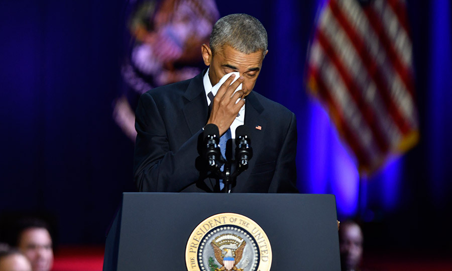 "<h4>TEARFUL SEND-OFF</h4><p>Barack Obama delivered his final speech as U.S. president in his hometown of Chicago, wiping away tears as he thanked his ""best friend"" and wife Michelle, and daughters Malia and Sasha. ""Of all that I've done in my life, I am most proud to be your dad,"" he said.</p>