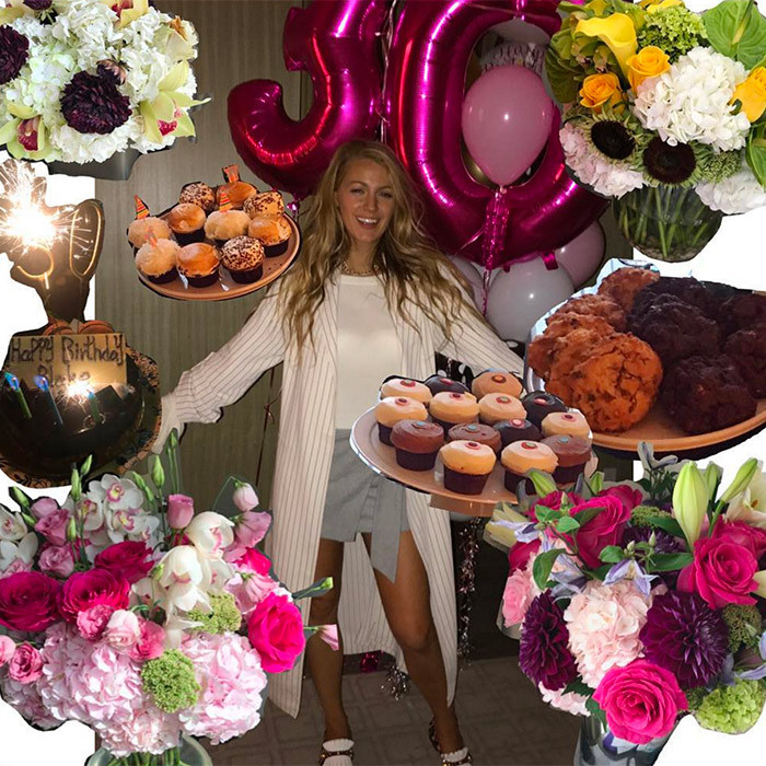 <h4>BLAKE LIVELY ON GETTING OLDER: 'BRING IT ON!'</h4><p>She played a woman who doesn't age past 29 in The Age of Adaline, but in real-life Blake Lively is 30 and proud of it! Ryan Reynolds' wife spent her big birthday in Toronto with co-star Anna Kendrick on the set of A Simple Favor and then took to Instagram to thank her friends for the flowers and treats.</p><p>Photo: &copy; Getty Images</p>
