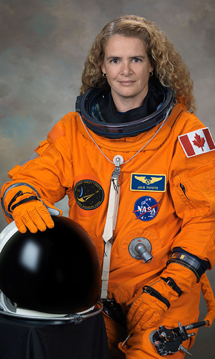 "<h4>NEW HEIGHTS </h4><p>Having represented Canada as an astronaut, logging more than 600 hours in space, Montreal native Julie Payette, now 54, said she was thrilled for the opportunity to represent the country ""again, this time on Earth"" – as the new Governor General of Canada.</p><p>Photo: &copy; Getty Images</p>"