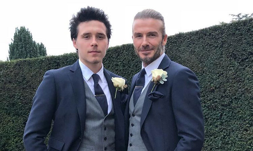 David Beckham and son Brooklyn suit up for family wedding  d234e94f3