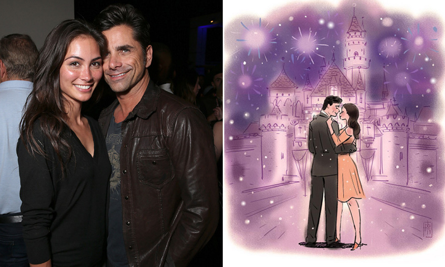 <h3>John Stamos and Caitlin McHugh</h3>