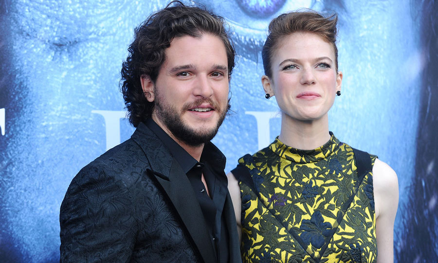 <h3>Kit Harington and Rose Leslie</h3>