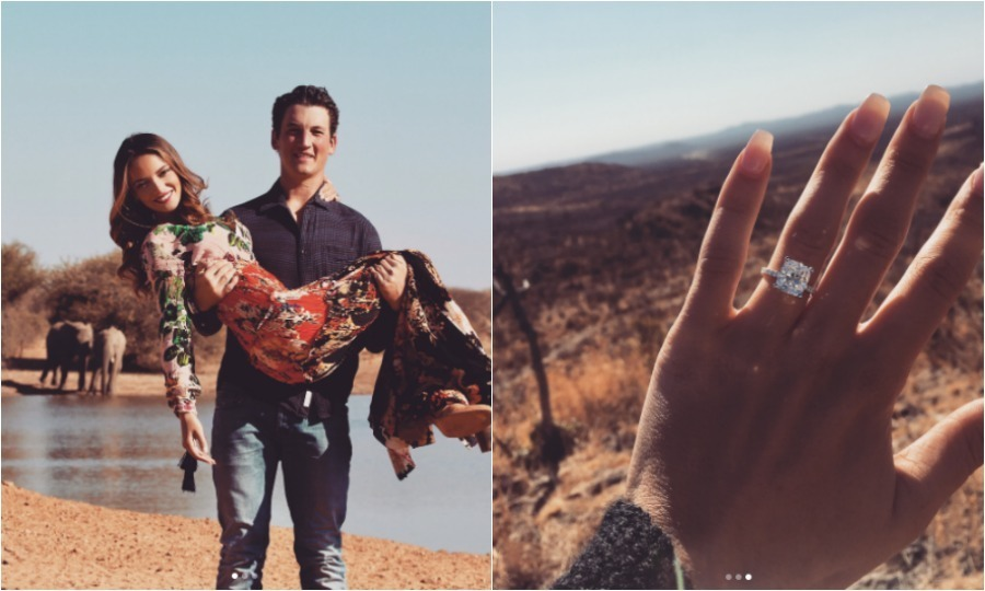 <h3>Miles Teller and Keleigh Sperry</h3>
