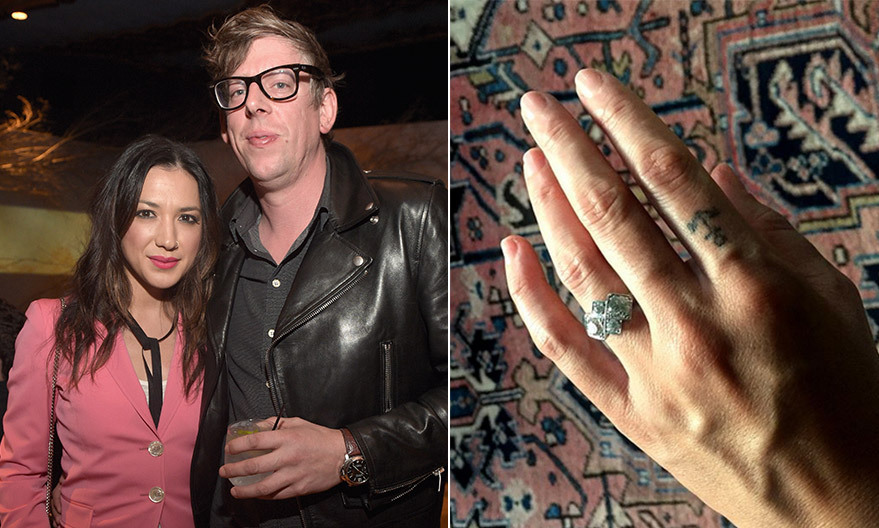 <h3>Michelle Branch and Patrick Carney</h3>