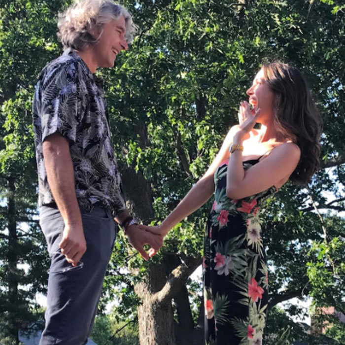 <h3>Eliza Dushku and Peter Palandjian</h3>
