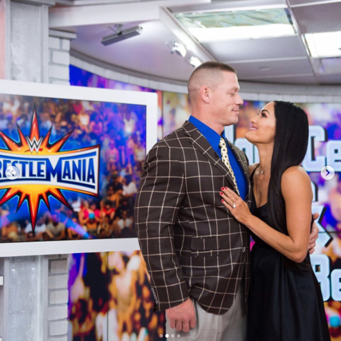 <h3>John Cena and Nikki Bella</h3>