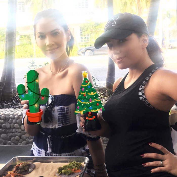 "Next year Eva Longoria will have a little one to celebrate Christmas with! The Desperate Housewives alum showed off her growing baby bump in Miami with her pal Olivia Munn. Alongside the photo, Olivia penned, ""Christmas in Miami When friends become family ❤️.""